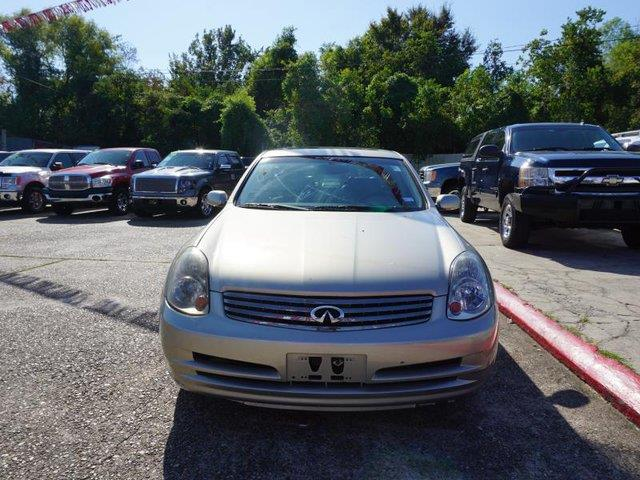 2003 INFINITI G35 BASE LUXURY 4DR SEDAN WLEATHER gold navigation systemdriver air bagfront hea