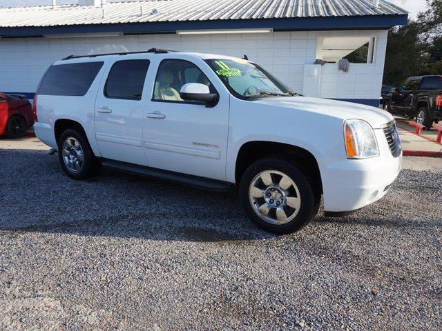 2011 GMC YUKON XL SLT 1500 4X2 4DR SUV summit white passenger air bag sensorauxiliary audio inpu