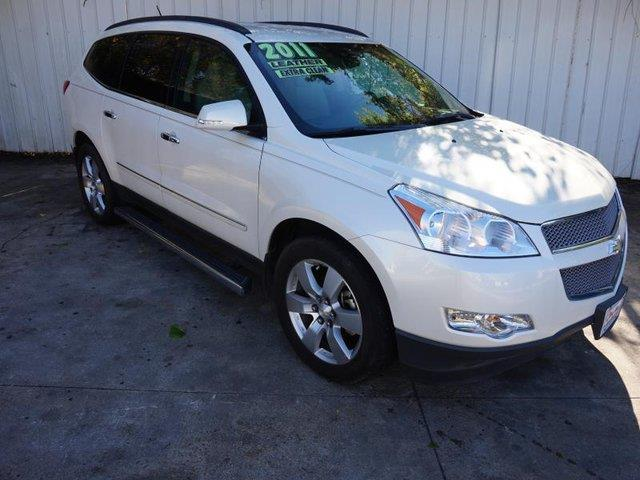 2011 CHEVROLET TRAVERSE LTZ 4DR SUV white running boardsside stepsdriver air bagpassenger air