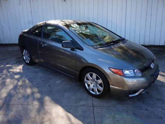 2008 HONDA CIVIC LX 2DR COUPE 5A gray driver air bagpassenger air bagpassenger air bag onoff s