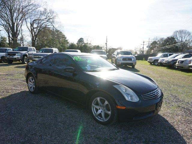 2006 INFINITI G35 BASE 2DR COUPE WAUTOMATIC black obsidian driver illuminated vanity mirrorvehi