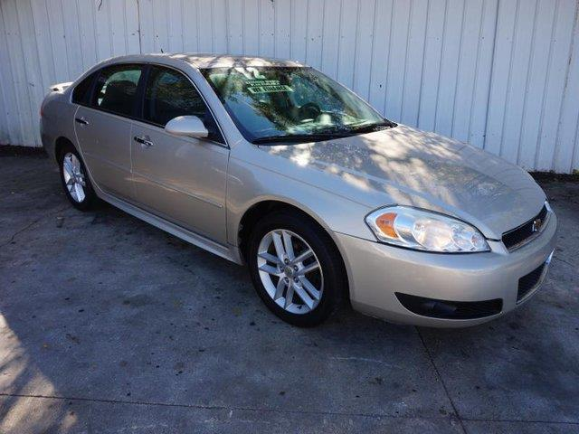 2012 CHEVROLET IMPALA LTZ 4DR SEDAN gold passenger air bag sensorrear bench seatstability contr