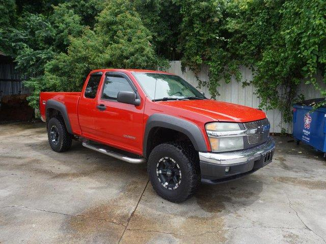 2005 CHEVROLET COLORADO 1259 WB 4WD LS Z71 red auxiliary pwr outletprivacy glassconventional s