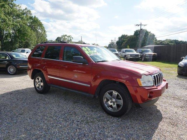 2005 JEEP GRAND CHEROKEE LIMITED 4DR 4WD SUV red auto-on headlights4-wheel abscd changermulti-