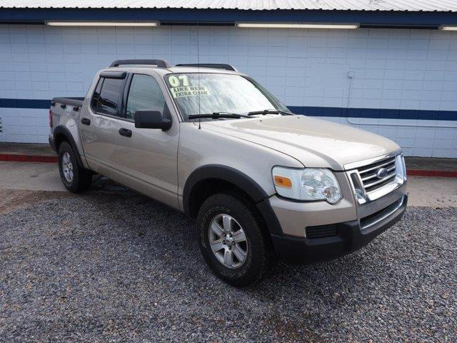 2007 FORD EXPLORER SPORT TRAC XLT 4DR CREW CAB V6 gold cd changerdriver air bagpassenger air ba
