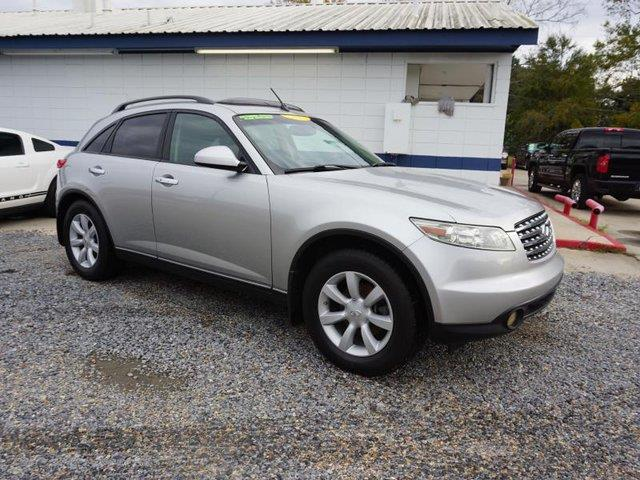 2004 INFINITI FX35 BASE AWD 4DR SUV brilliant silver metallic cd playercd changercassettealarm