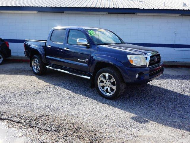 2008 TOYOTA TACOMA PRERUNNER V6 4X2 4DR DOUBLE CAB indigo ink pearl passenger air bagdriver air