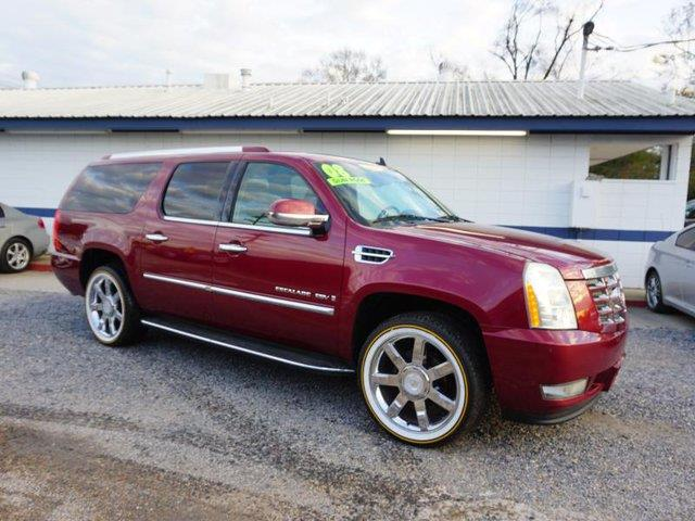 2008 CADILLAC ESCALADE ESV BASE AWD 4DR SUV black raven passenger air bag sensorheated rear seat