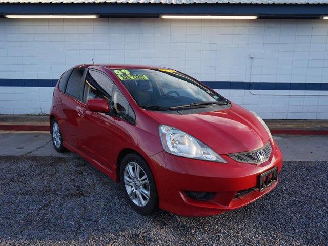 2009 HONDA FIT SPORT 4DR HATCHBACK 5A red passenger air bagfront side air bagfront head air bag