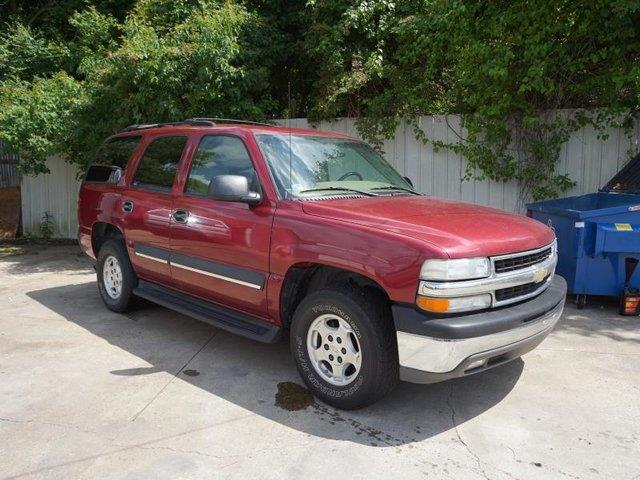 2004 CHEVROLET TAHOE 1500 LS sport red metallic trip computertire pressure monitorfront reading