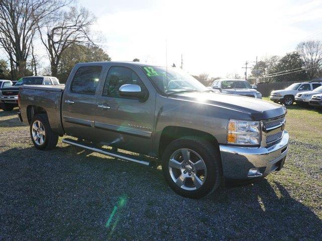 2012 CHEVROLET SILVERADO 1500 LT 4X2 4DR CREW CAB 58 FT SB gray stone metallic driver illuminat