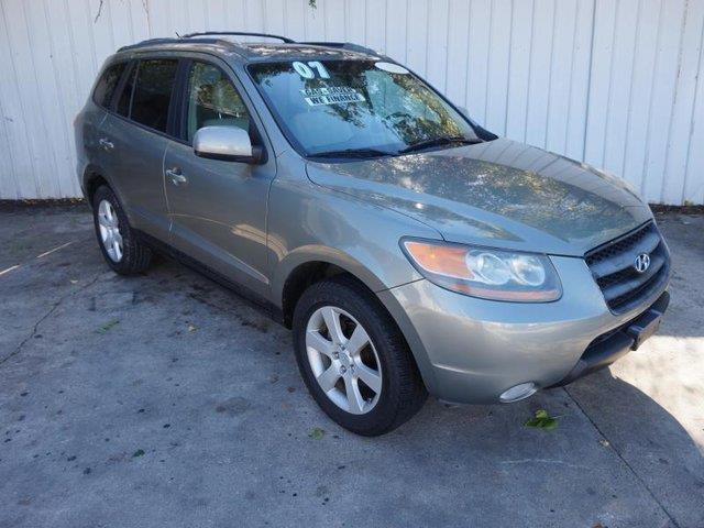 2007 HYUNDAI SANTA FE SE FWD green 4-wheel disc brakesadjustable steering wheelaluminum wheels