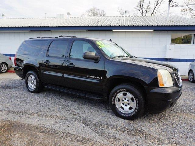 2007 GMC YUKON XL 1500 SLT 2WD onyx black rear bench seattow hitchadjustable pedalsrear parkin