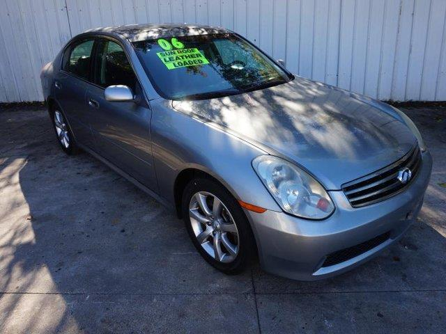 2006 INFINITI G35 BASE 4DR SEDAN WAUTOMATIC silver power driver seatpower passenger seattires