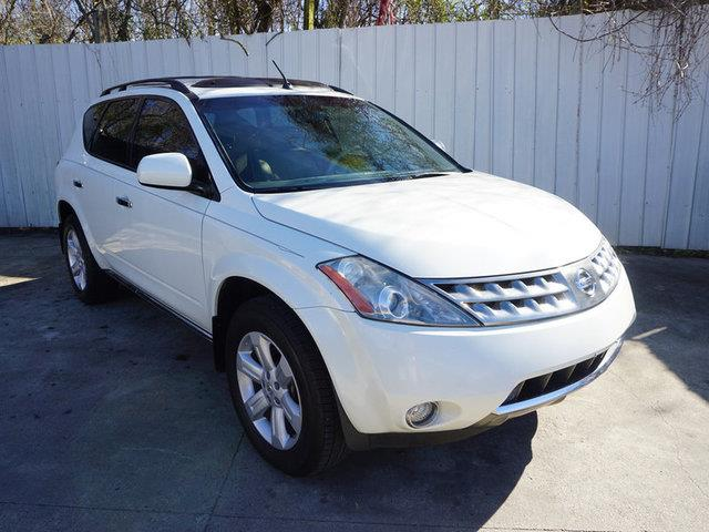 2007 NISSAN MURANO SL 2WD white tire pressure monitorrear spoilervariable speed intermittent wi
