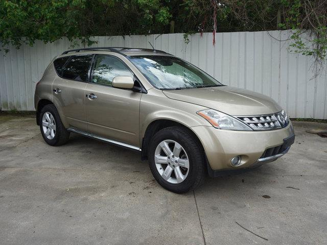 2007 NISSAN MURANO SL 2WD chardonnay pearly metallic passenger air bag sensorback-up camerarear