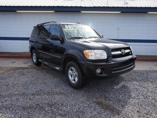 2006 TOYOTA SEQUOIA SR5 4DR SUV black brake assistpassenger vanity mirrorauxiliary pwr outletp