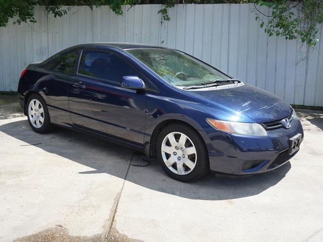 2008 HONDA CIVIC LX 2DR COUPE 5A blue rear head air bagalarm4-wheel absrear defrostfront whee