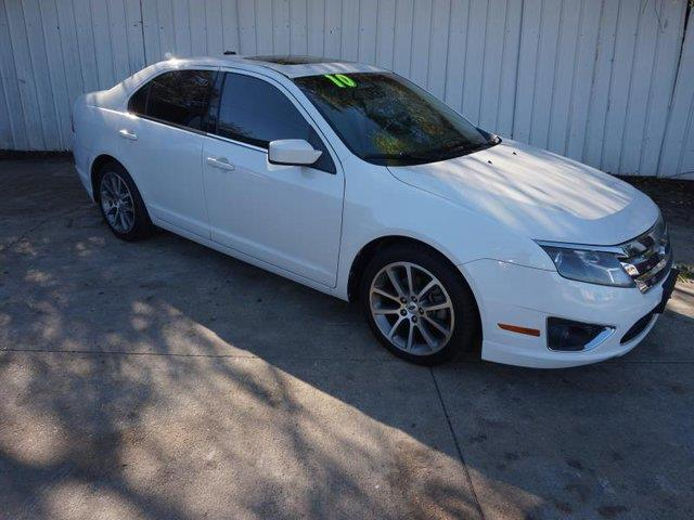 2010 FORD FUSION SEL 4DR SEDAN white power tiltsliding sunroofrear side air bagclimate control
