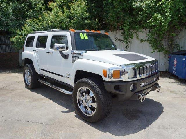 2006 HUMMER H3 BASE 4DR SUV 4WD birch white passenger air bagacamfm stereocd player4-wheel