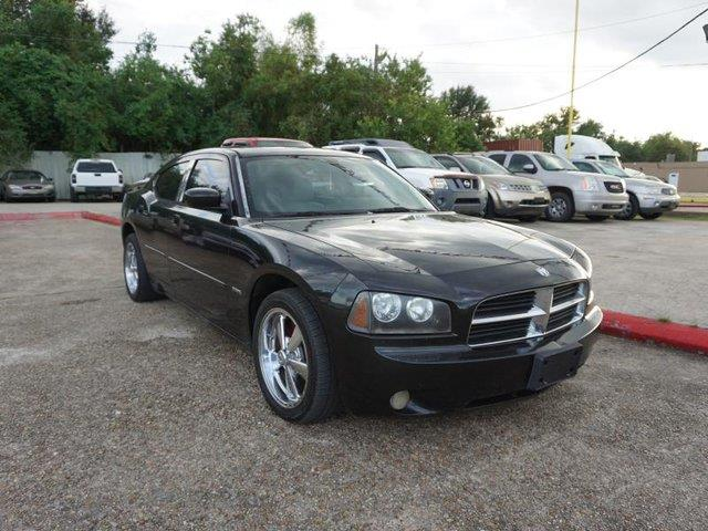 2007 DODGE CHARGER RT 4DR SEDAN brilliant black crystal prl auxiliary pwr outletheated exterior