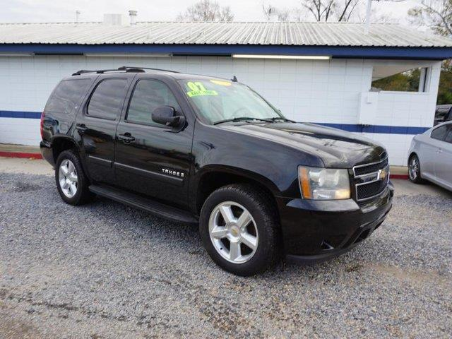 2007 CHEVROLET TAHOE LT 2WD black tire pressure monitortransmission overdrive switchleather ste