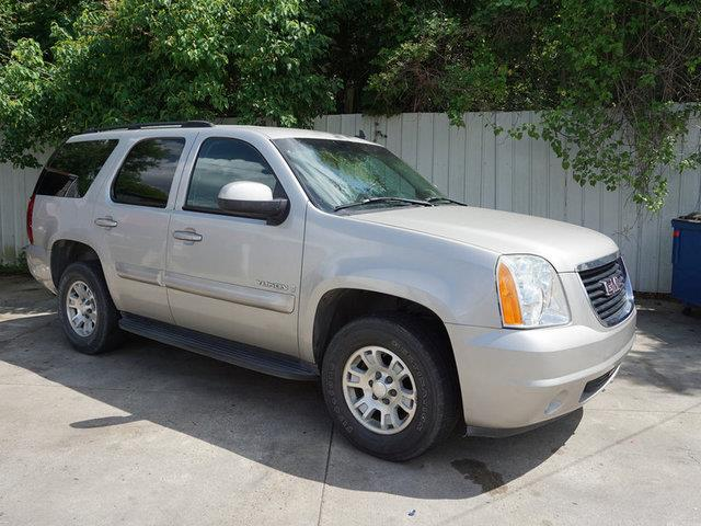 2007 GMC YUKON 1500 SLT 2WD gold mist metallic leather seatsbucket seatsadjustable steering whe