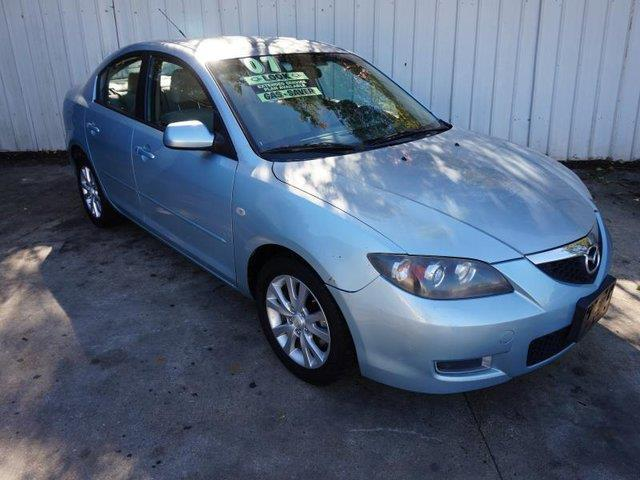 2007 MAZDA MAZDA3 I SPORT 4DR SEDAN 2L I4 4A blue acdriver air bagpassenger air bag onoff s
