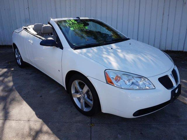 2008 PONTIAC G6 GT 2DR CONVERTIBLE white leather seatsdriver air bagpassenger air bagfront sid