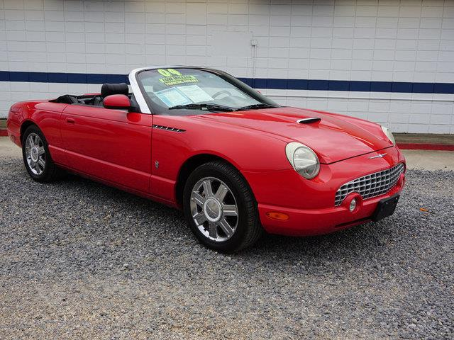 2004 FORD THUNDERBIRD DELUXE 2DR CONVERTIBLE torch red passenger air bagclimate controlmulti-zo