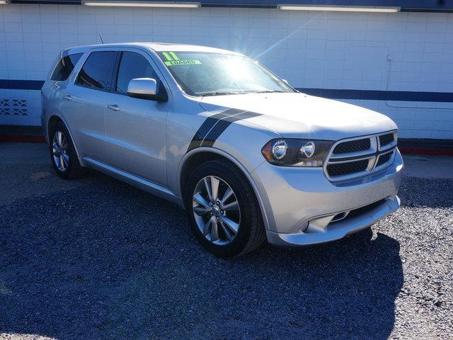 2011 DODGE DURANGO HEAT 4DR SUV bright silver metallic tires - front performancerear bench seat