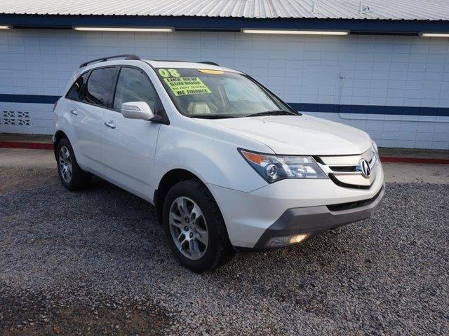 2008 ACURA MDX SH-AWD 4DR SUV white rear head air bagdriver air bagheated mirrorstraction cont