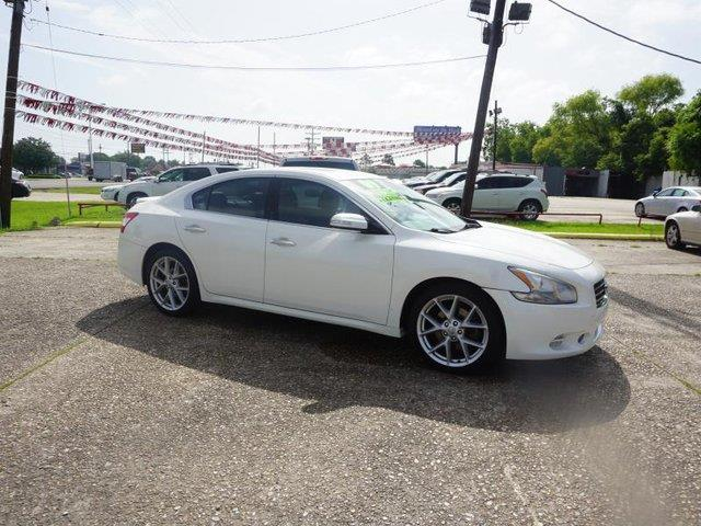 2009 NISSAN MAXIMA S 35 winter frost pearl 163540 miles VIN 1N4AA51E19C804754