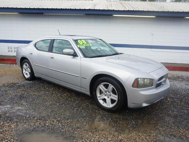2008 DODGE CHARGER RT 4DR SEDAN bright silver metallic passenger air bagrear acchild safety lo