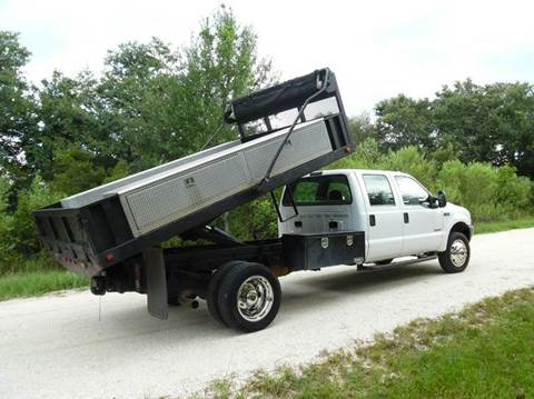 2004 Ford F-550 Crew Cab Flatbed Dump for sale in Lake Placid, FL