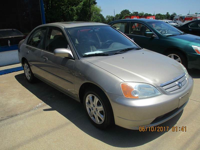 2003 Honda Civic EX 4dr Sedan w/Side Airbags - Carbondale IL