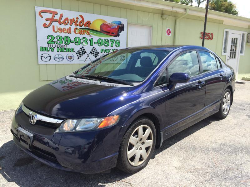 Used Honda Civic >> 2008 Honda Civic LX Sedan In Fort Myers Cape Coral Fort Myers FLORIDA USED CARS INC