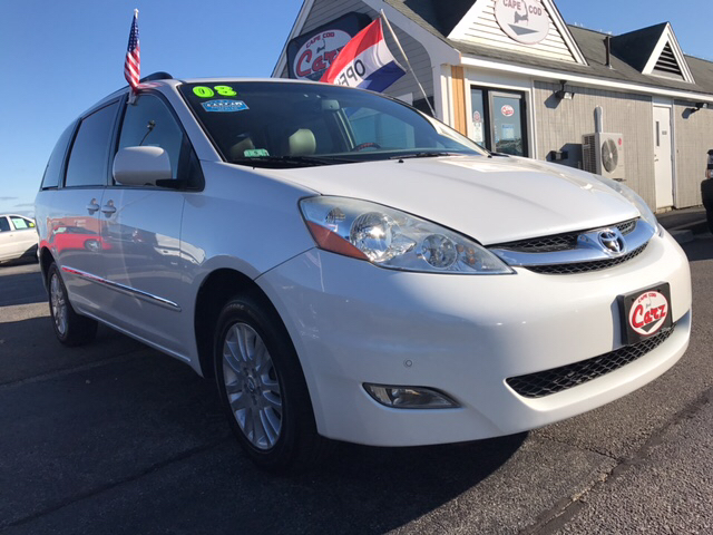 2008 TOYOTA SIENNA XLE LIMITED AWD 4DR MINI VAN white all wheel drive xle limited top of