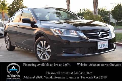 2015 Honda Accord for sale in Temecula, CA