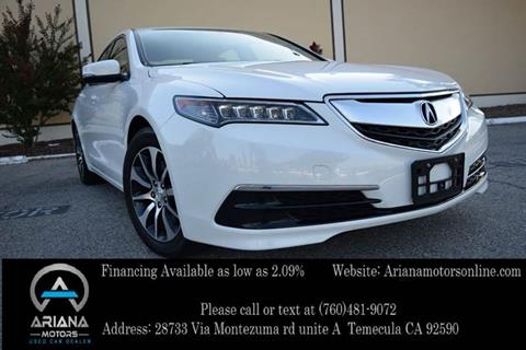 2016 Acura TLX for sale in Temecula, CA