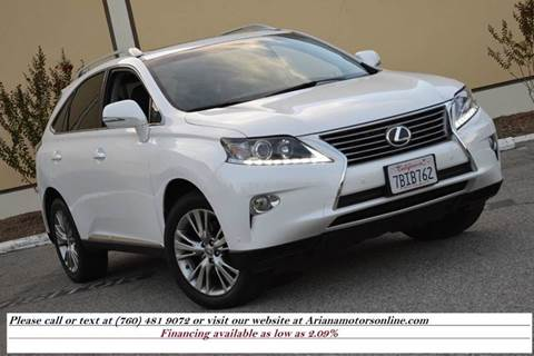 2013 Lexus RX 350 for sale in Temecula, CA