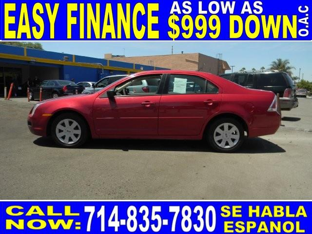 2009 FORD FUSION S 4DR SEDAN redfire metallic amfmcd playeranti-theftaccruisepower lockspo