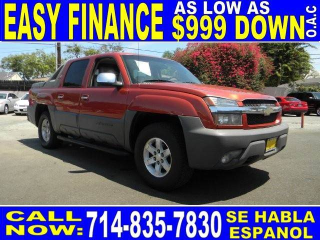 2002 CHEVROLET AVALANCHE 1500 4DR CREW CAB 2WD orange abs - 4-wheel anti-theft system - alarm a