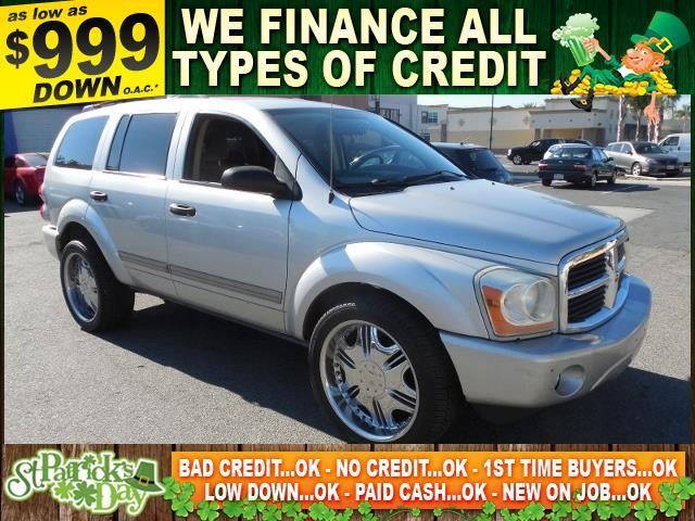 2004 DODGE DURANGO SLT 4DR SUV silver autocheck report is available upon request several thousan