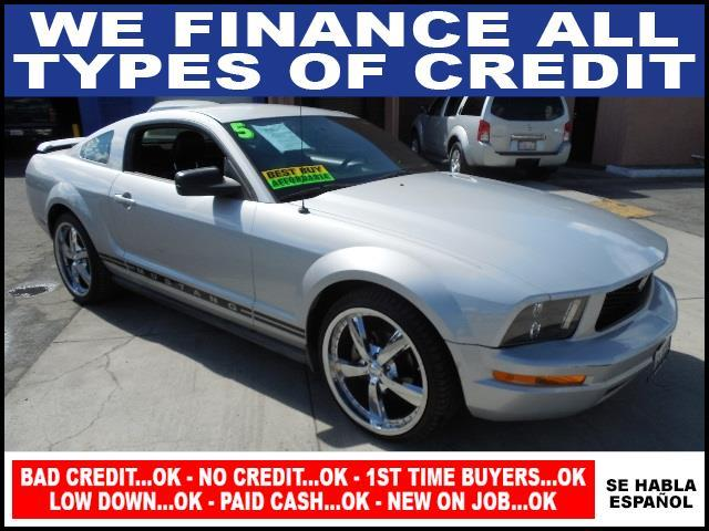 2005 FORD MUSTANG V6 DELUXE 2DR COUPE silver limited warranty included to assure your worry-free