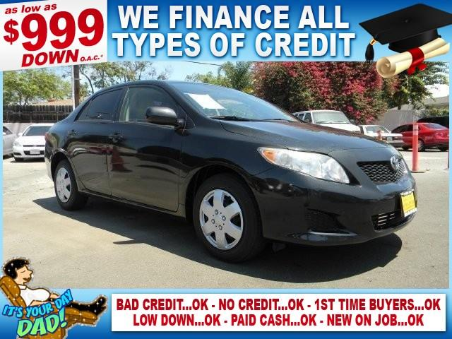 2009 TOYOTA COROLLA LE 4DR SEDAN 4A black limited warranty included to assure your worry-free pur