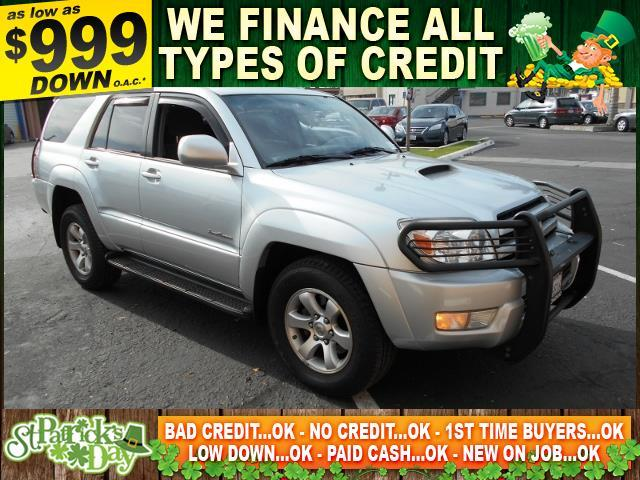 2004 TOYOTA 4RUNNER SPORT EDITION 4DR SUV silver limited warranty included to assure your worry-f