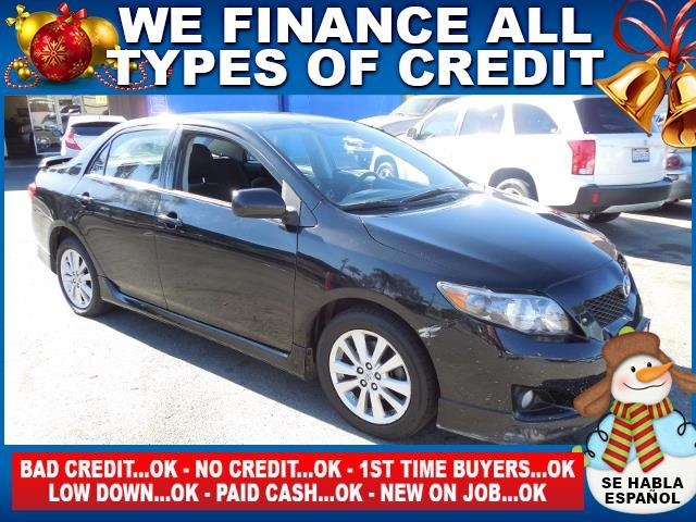 2010 TOYOTA COROLLA S 4DR SEDAN 4A black limited warranty included to assure your worry-free purc