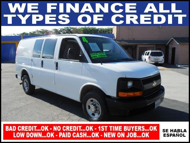 2004 CHEVROLET EXPRESS CARGO 2500 3DR VAN white limited warranty included to assure your worry-fr