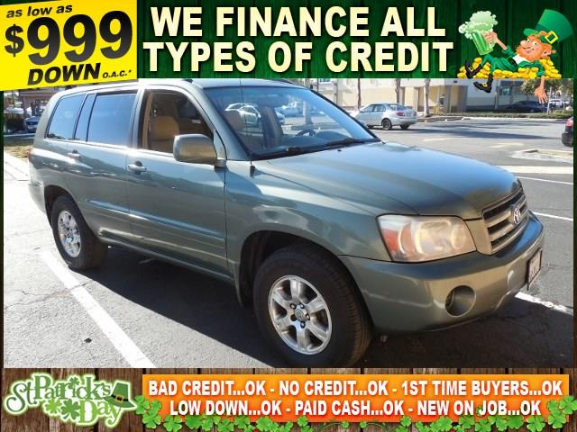 2004 TOYOTA HIGHLANDER green limited warranty included to assure your worry-free purchase autoch